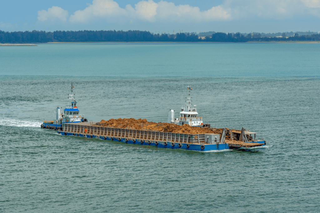Barge to be Unloaded