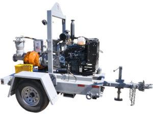 Self Priming Pump Diesel on Trailer