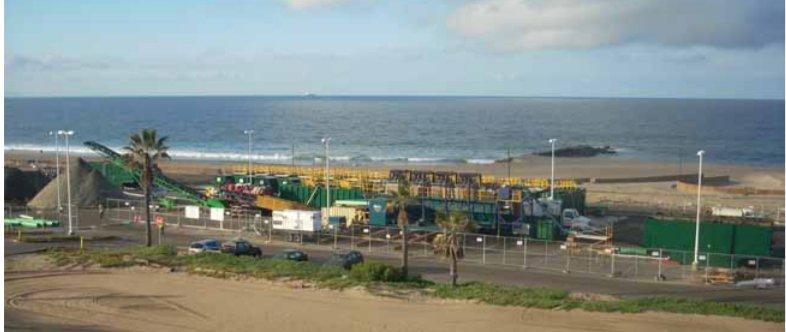 Séparation des sédiments de plage