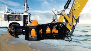 Cabezal cortador de bomba de dragado de accesorio de excavadora