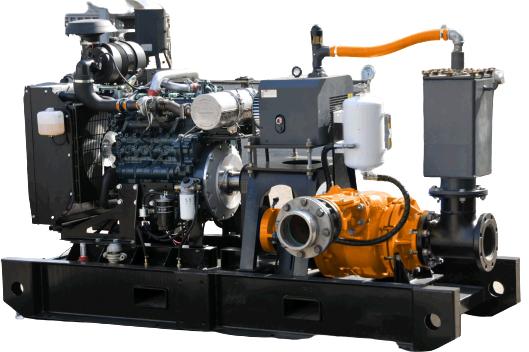 유압 스키드 마운트 슬러리 펌프 및 모터