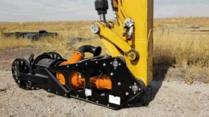 Liner Safe Excavator Dredge Attachment