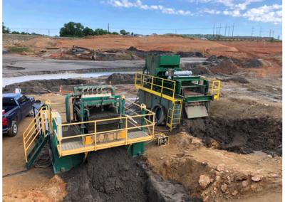 Slurry Dewatering On-Site Coal Ash